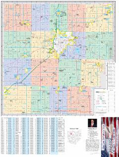 2020 Hancock County Map - County Side