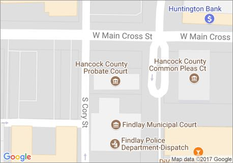 Probate Court Location Map